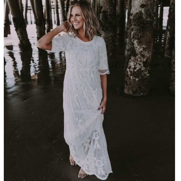 617ee4de62df Dresses & Skirts - Wren & Ivory Selena Lace Boutique Dress in Pearl
